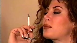 Classic Brunette Smoking Solo