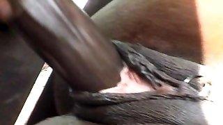 Ebony anal tearing up is impressive