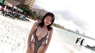 Amazing Japanese mega-slut Shinobu Ebihara in Best Bathing Suit JAV movie