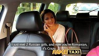 FakeTaxi Hot Romanian doll in backseat oral job