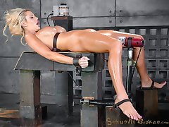 Courtney Taylor is a barbie doll come to life. Huge tits, big blow job lips, juicy bootie, long blonde hair, tan and a shaved pussy. This sexbot was put on the planet to fuck and she is very very good at it. Today we are going to put our sex doll to the test.