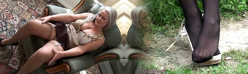 mother I'd like to nail Marvelous breasty granny in nylons unwrapping