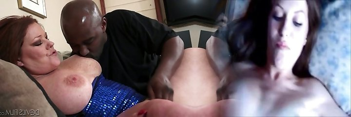Redhead fattie with lovely hooters Kate Faucett pleases black guy