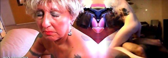 Pierced tatted mature masturbating cunt