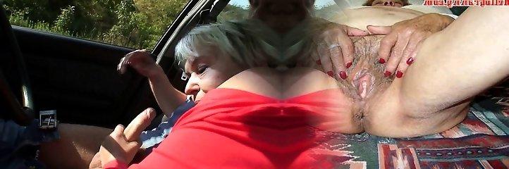 70 yo grandma getting smashed in the car