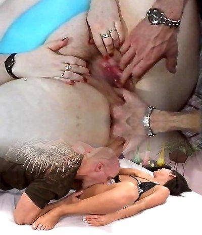 BBW bitch smashed in a retro porn flick