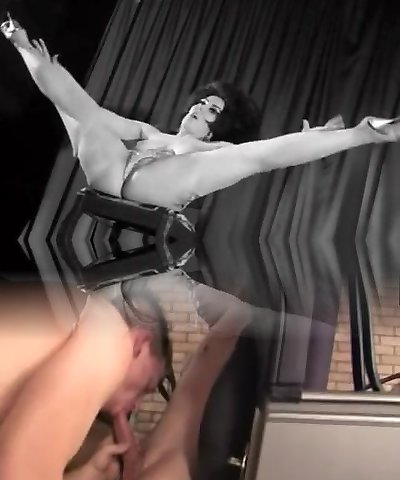 Antique Stripper Dancing on a Stage (1960s Retro)