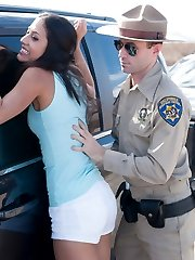A special SAS feature starring Casey Calvert, Lyla Storm and James Deen.  Two college students are driving through the desert and get pulled over by a phony sheriff.  The girls are thrown into the back of a cop car and taken to a remote place where they become his personal fuck holes.  Stellar bondage and rough sex scenes with anal pounding, brutal punishments and intense orgasms!