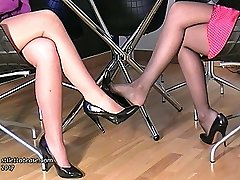 Watching 2 nice ladies in high heels is one of the supreme delectations of having a shoe fetish. The pleasure, nice and fulfilling draws the fetishist closer to the women heel, the concentrate of his love, as his fetish for them is intensified