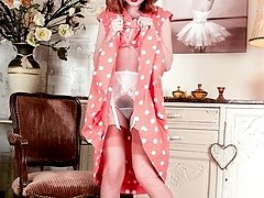 Lolas spread legs sheathed in rare vintage nylons allow a glistening view of her rampant...
