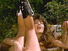 Bionca strips jeans shorts off in woods
