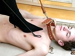 Mistress Jana is having a lot of fun going really brutal on her slave