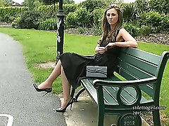 Debbie is so attractive and here she combines a cutaway style black dress with a cutaway style high heels! Once again she will make you hard and bring you to a climax in your loving and adoring fetish for ladies sexy high heel shoes