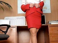 Secretary Lana gets \'PHrisky\' in the office!