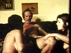 Vintage footage of a sexy threeway from the 60s