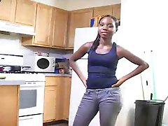 FULL VIDEO  Amateur ebony kitchen fuck