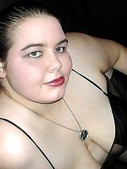 Sweet busty brunette plumper teases
