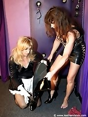 Mistress dressed by slave