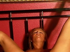 Extreme pussy and tit whipping