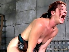 Cici Rhodes thinks she can handle it all. Wait until you see the look of shock on her face when Jack Hammer pushes 10 inches of Big Black Cock into her tight little asshole. It\'s so deep inside of her it threatens to start poking out of her mouth. That\'s why we have another cock to cram down her throat at the same time. We spit roast her through some of the best orgasms she\'s ever had.