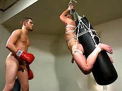 Wolf Hudson cruises the gym. He sees muscle-boy Christian Owen on the bench press and tries to...