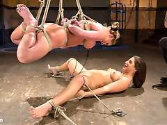 What happens when you take a seasoned bondage model and pair her up with a new school starlet?...