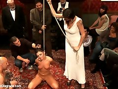 Blindfolded and locked into a box where only her pussy, ass, and feet are free, 21 year old hottie Adriana Chechik gives herself over to the most intense bondage, sex, and orgasms she has ever experienced! Cattle proding, fisting, squirting, rough sex, and humiliation! Don\'t miss this shoot!