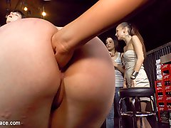 Proxy Page begs to service everyone she passes on the street.  This pathetic slut exposes her huge ass and perky tits to anyone who will give her the attention she craves.  After being humiliated in public she is dragged into a bar where she takes cock after cock in her gaping asshole. She begs her dominant to fill her mouth and soak her from head to toe. Opening her ass up she takes double anal and still wants more. Finally, after this pathetic slave is completely used up she is brutally fisted and drenched in cum.