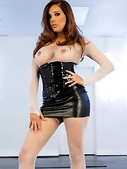 Kristina Rose looks good in any position. Here she looks extra hot, strung up by her wrists with...