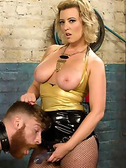 It's extra fun to break down the pretty boys. They think flashing those good looks and cute smile are enough to satisfy a Divine Bitch, but are sorrily mistaken. Mistress Cherry Torn cuts through her slave with her sharp tongue and dissects him to a mere slug in the dirt. This is when the real magic happens! Sweaty foot worship, bondage, dildo gag, pussy worship, pegging and humiliation are all included!