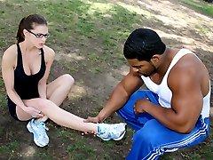 Black Meat White Feet - Interacial Footjobs