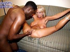 Sexy slut gets fucked good by a black guy