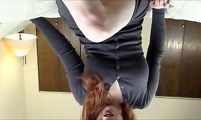 Slut uses large toys on her pooltable