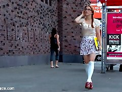 Slutty redhead art student Penny Pax gets publicly fucked and humiliated in front of shocked art...