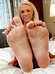 Young and sassy Katerina Kay is more than ready to have her toes suked on and licked. It makes...