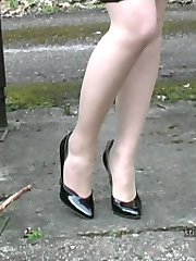 Toni's high heel shoes need cleaning, with your cream all over them! Then she needs them to be rubbed and polished until that lovely patent shine glistens from her pointed toe to the tip of her lovely high heel. It would be so nice if a man could do it for her especially if he has a shoe fetish