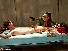 The Divine Bitches have ensnared another unsuspecting slave toy, locking him in their high-tech...