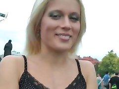 Hot Czech Girl Strips Outdoors Scene #1