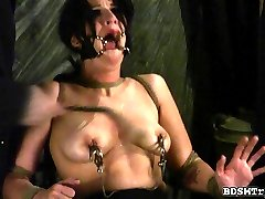 Betty loves to play kinky bondage games but is too much even for her.
