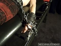 With Natasha in heavy bondage for her first time, Smutty attaches a pair of nipple clamps to her...