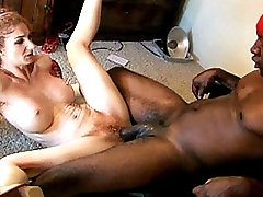 Bushy hottie fucked by a black stud