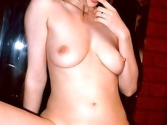 Leila Swan bares it all in front of the camera and cramming her bushy twat with a black cock