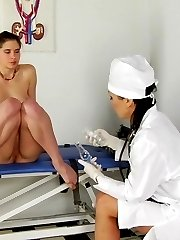 Seemingly shy girl wants a fem doctor to fuck her
