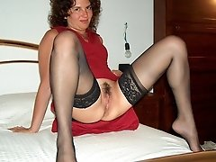 Sluts in stockings posing and in action galery