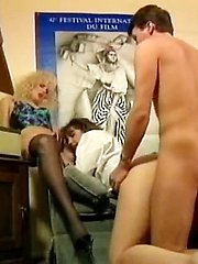 Melanie Moore, Traci Winn, Jonathan Morgan in natural hairy pussy girls from classic porn films