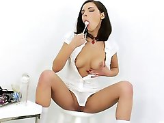 High heels and brutal dick in her anus