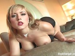 Hot chick with huge tits gets fucked hard
