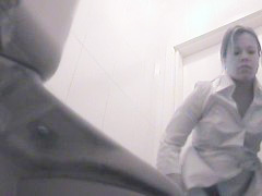 Spy cam movies from camera planted in ladies room
