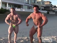 Beach muscle hunk fags