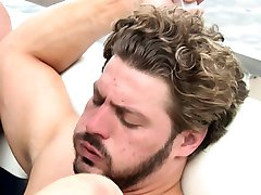 Andrew Blue cumshot out at sea orgy